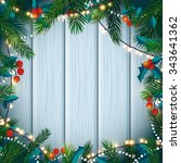 christmas and new year card... | Shutterstock .eps vector #343641362
