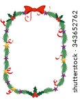 merry christmas celebration... | Shutterstock .eps vector #343652762