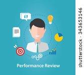 performance review  human... | Shutterstock .eps vector #343653146