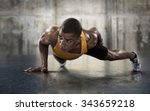 sport. young athletic man doing ... | Shutterstock . vector #343659218