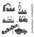 icons production lines of the... | Shutterstock .eps vector #343660295