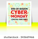 cyber monday deals design.... | Shutterstock .eps vector #343669466