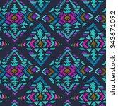 vector hand drawn ethnic...   Shutterstock .eps vector #343671092