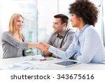 businesspeople shaking hands | Shutterstock . vector #343675616