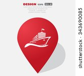 ship  web icon. vector design | Shutterstock .eps vector #343690085