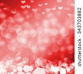 red background with circle bokeh | Shutterstock . vector #343703882