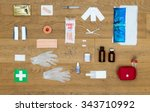 the items and objects in a... | Shutterstock . vector #343710992
