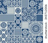 seamless background  patchwork...   Shutterstock .eps vector #343712006