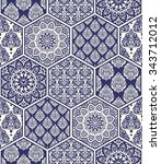 seamless background  patchwork... | Shutterstock .eps vector #343712012