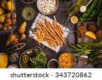 Gourmet Food Concept. Various...