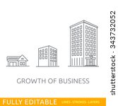 growth of business. buildings... | Shutterstock .eps vector #343732052