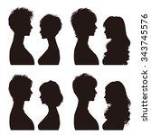 couple   profile | Shutterstock .eps vector #343745576