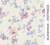 flowers seamless pattern   for... | Shutterstock . vector #343746632
