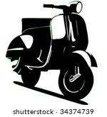 Vespa Scooter Free Vector Art 171 Free Downloads