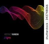 abstract rainbow lines design.... | Shutterstock .eps vector #343748066