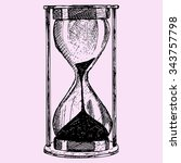 hourglass  doodle style  sketch ... | Shutterstock . vector #343757798