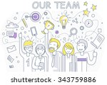 our success team linear design. ... | Shutterstock .eps vector #343759886