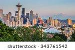 Seattle Skyline Panorama Seen From - Fine Art prints