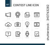 vector contest exhibit line... | Shutterstock .eps vector #343763282
