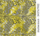 the seamless pattern graphic... | Shutterstock .eps vector #343767902