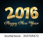 happy new year graphic design ... | Shutterstock .eps vector #343769672