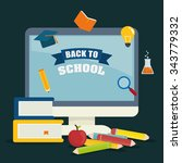 back to school graphic design... | Shutterstock .eps vector #343779332