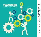 business teamwork and... | Shutterstock .eps vector #343779812