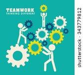 business teamwork and... | Shutterstock .eps vector #343779812