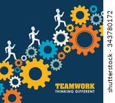 business teamwork and... | Shutterstock .eps vector #343780172