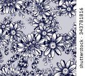 abstract elegance seamless... | Shutterstock . vector #343781816