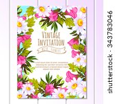 wedding invitation cards with... | Shutterstock .eps vector #343783046