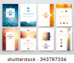 set of brochure  poster... | Shutterstock .eps vector #343787336