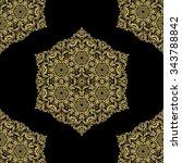 oriental classic golden pattern....   Shutterstock . vector #343788842