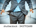 man pulling out empty pockets | Shutterstock . vector #343792688