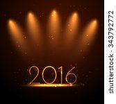2016 greeting design in party... | Shutterstock .eps vector #343792772