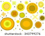 felt elements buttons and... | Shutterstock .eps vector #343799276
