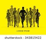 marathon runners  designed...   Shutterstock .eps vector #343815422