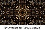 glittering golden background | Shutterstock . vector #343835525