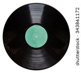 shot of a black vinyl record... | Shutterstock . vector #343861172