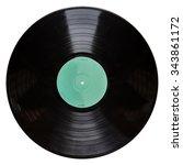 shot of a black vinyl record... | Shutterstock . vector #343861172
