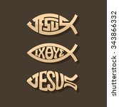 Set Of Jesus Fish