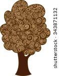 tree of life brown vector | Shutterstock .eps vector #343871132