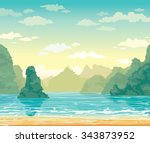 Tropical Landscape With...