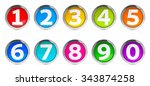 Color Icons Numbers Set...