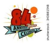 anniversary set template | Shutterstock .eps vector #343881548