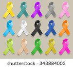 ribbons of various colors | Shutterstock .eps vector #343884002