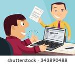 loan application. customer care ...   Shutterstock .eps vector #343890488
