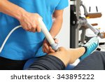 ultrasound.physiotherapist... | Shutterstock . vector #343895222