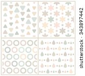 Set Of 4 Simple Neutral Pale...