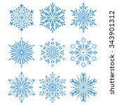 snowflakes icon collection 2.... | Shutterstock . vector #343901312
